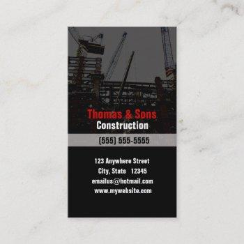 profile card for the construction industry