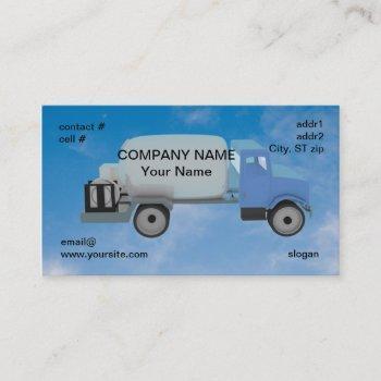 propane truck on blue sky business card