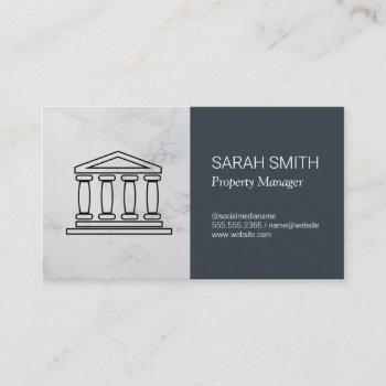 property management | real estate agent business card