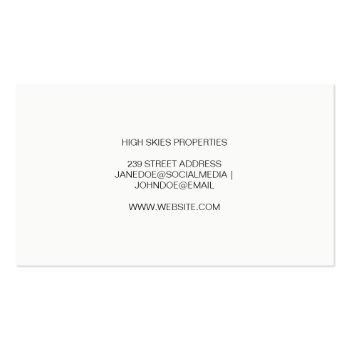 Small Property Management | Realtor Agent | Classic Business Card Back View