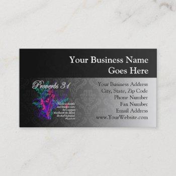 proverbs 31 bible christian women's business card