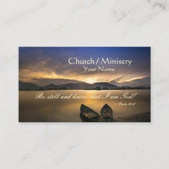psalm 46:10 be still and know that i am god bible business card