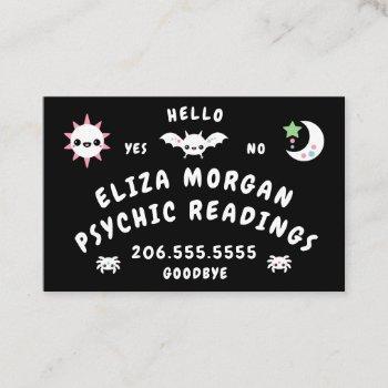 psychic talking board business card