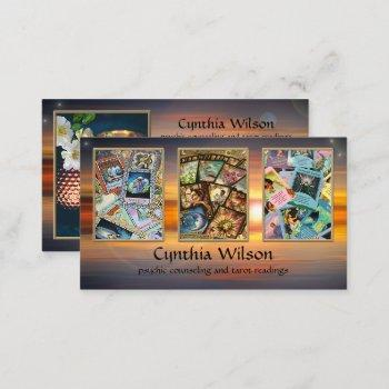 psychic tarot reader photo business card