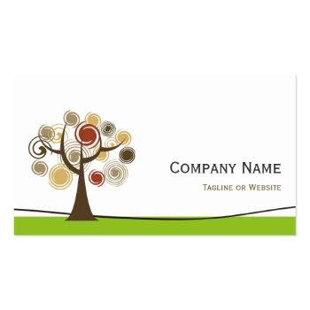 Small Psychologist - Elegant Tree Of Life Symbol Business Card Back View