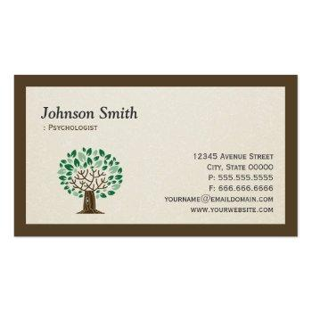 Small Psychologist - Elegant Tree Symbol Business Card Front View
