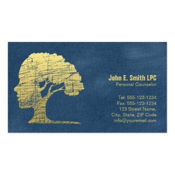 Small Psychologist Personal Counselor Business Cards Front View