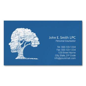 psychologist personal counselor, therapist business card magnet
