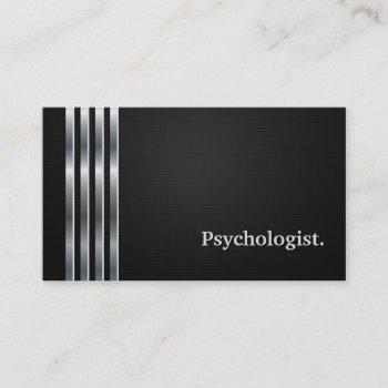 psychologist professional black silver business card