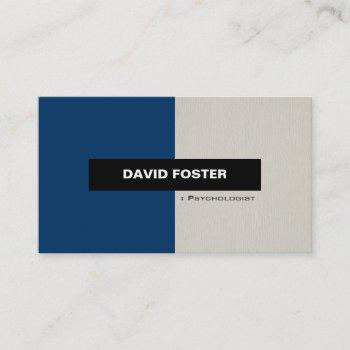 psychologist - simple elegant stylish business card