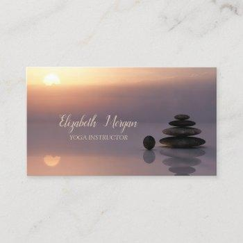 psychologist therapist zen, sunset business card