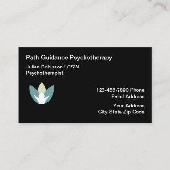 psychotherapist mental health counseling business card