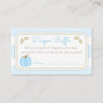 pumpkin baby boy shower diaper raffle ticket