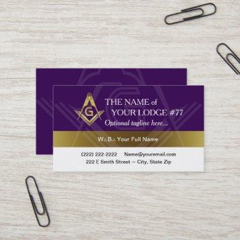 purple gold masonic business cards | triangle dots