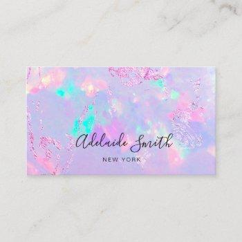 purple opal mineral stone photo business card