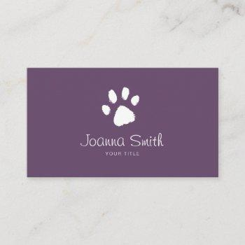 purple paw dog walking pet sitting vet appointment