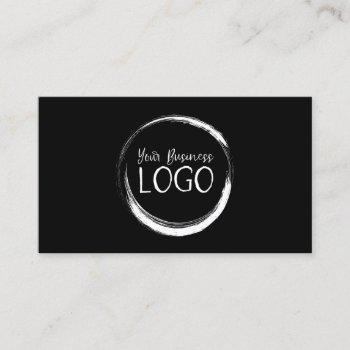 put my white logo on black business card