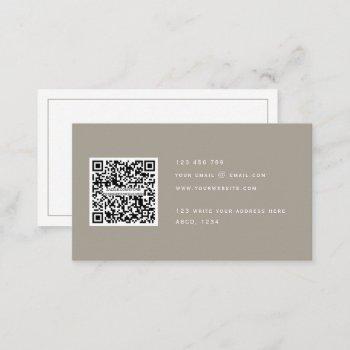 qr code modern minimalist elegant clean simple  bu business card