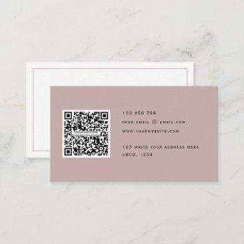 qr code modern minimalist elegant clean simple  business card