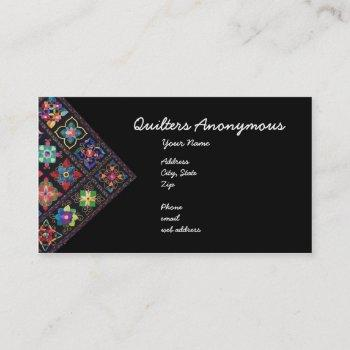 quilters anonymous business card
