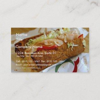 quiznos sub sandwich business card