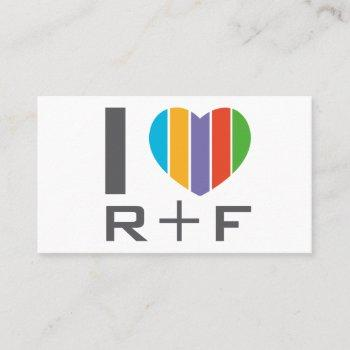r f love business card