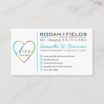 r + f regimen rodan and fields business card
