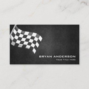 racing flag automotive business card