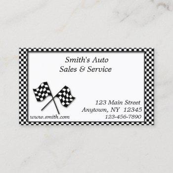 racing flags business card