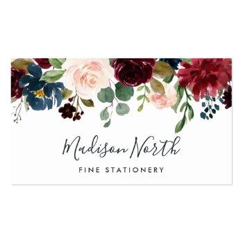 Small Radiant Bloom | Floral Business Card Front View