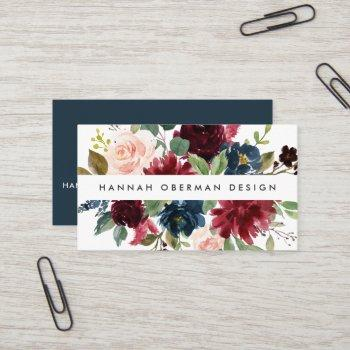 radiant bloom | floral business card