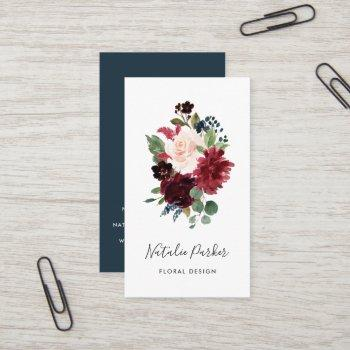 radiant bloom vertical business card