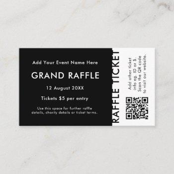 raffle ticket | qr code prize draw event ticket
