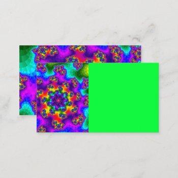 rainbow floral sprinkles business card