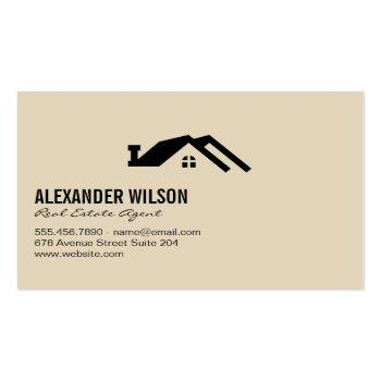 Small Real Estate Agent / Keys Business Card Back View