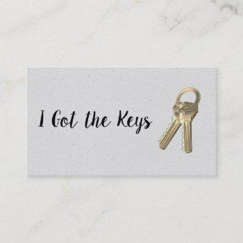 real estate agent / keys business card