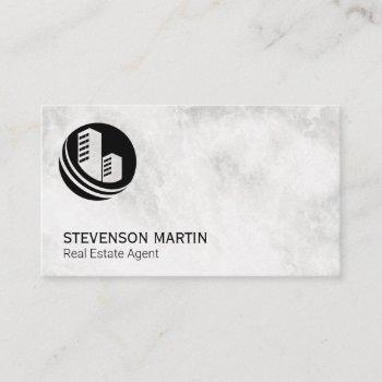 real estate agent | marble | property icon business card