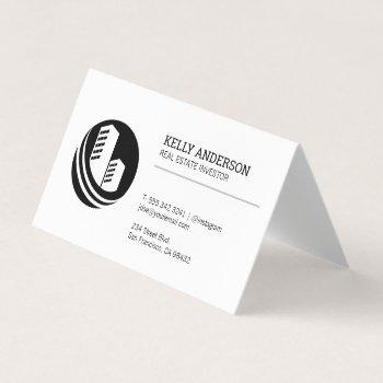 real estate agent | property building icon business card