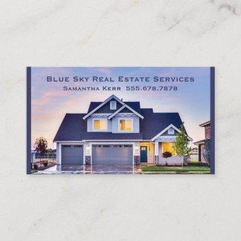 real estate agent reality services home inspector business card
