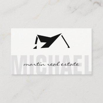 real estate agent | roof top icon business card