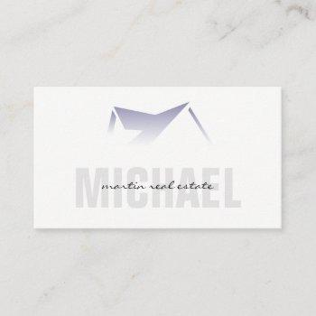 real estate agent | roof top icon gradient business card