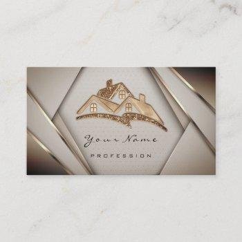 real estate apartments mortgages home gold business card