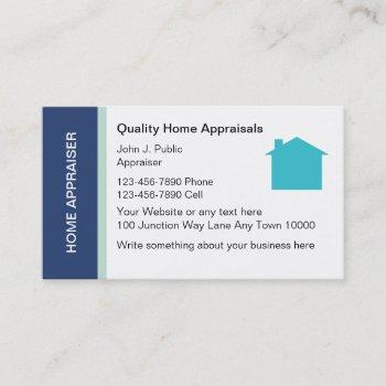 real estate appraisal business cards