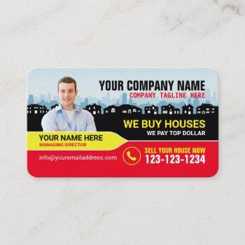 real estate broker and investor business cards