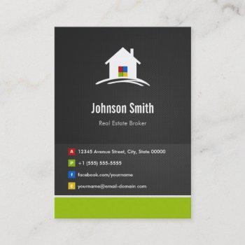 real estate broker - premium creative innovative business card