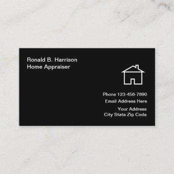 real estate home appraiser business card