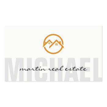 Small Real Estate Home Icons Business Card Front View