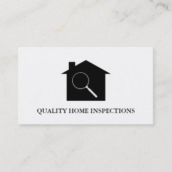 real estate home inspection business card