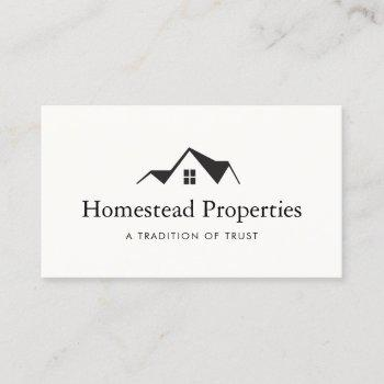 real estate house roof logo real estate agent business card