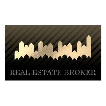 Small Real Estate Investor Business Card Front View